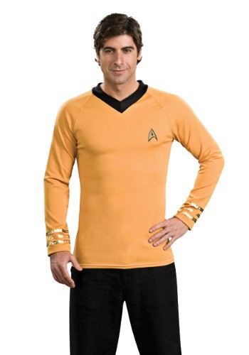 Click Here to buy Star Trek Classic Deluxe Captain Kirk Shirt from HalloweenCostumes, CDN Funds & Shipping