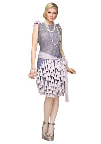 Womens Great Gatsby Daisy Buchanan Bluebells Dress Costume