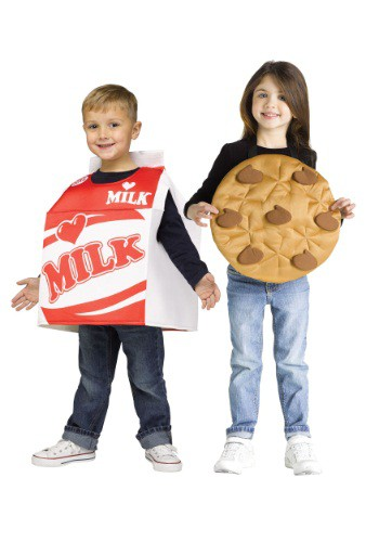 Click Here to buy Kids Cookies and Milk Costume from HalloweenCostumes, CDN Funds & Shipping