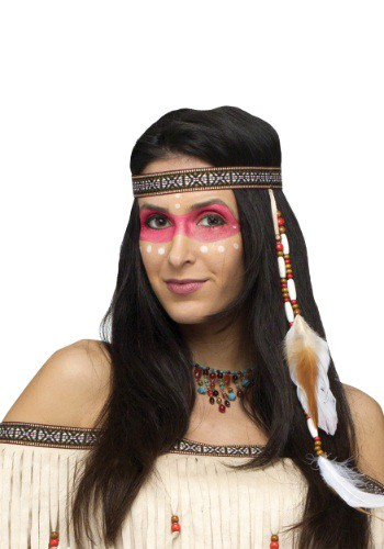 Click Here to buy Bead And Feather Native American Headband from HalloweenCostumes, CDN Funds & Shipping