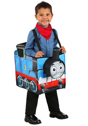 Child Thomas the Train Ride in Costume