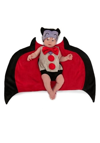 Click Here to buy Baby Drooly Dracula Swaddle Costume from HalloweenCostumes, CDN Funds & Shipping