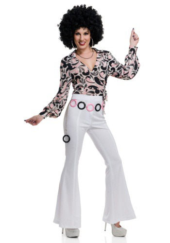 Click Here to buy Womens Paisley Disco Hottie Shirt from HalloweenCostumes, CDN Funds & Shipping