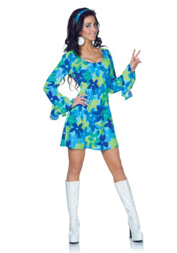 Click Here to buy Plus Size Wild Flower 70s Retro Dress Costume from HalloweenCostumes, CDN Funds & Shipping