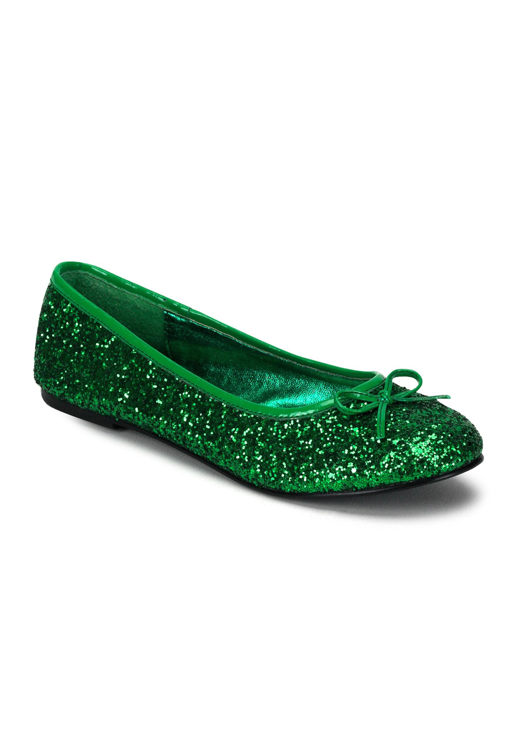 f5fcc3f181a4 Adult Kelly Green Glitter Flat s
