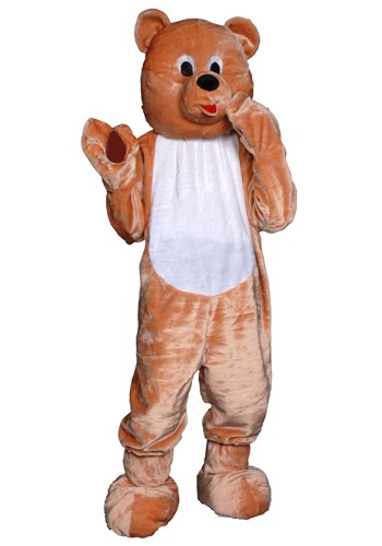 Adult Teddy Bear Mascot Costume
