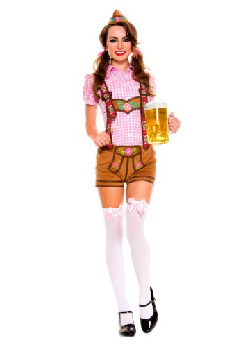 Click Here to buy Womens Lederhosen Beer Babe Costume from HalloweenCostumes, CDN Funds & Shipping