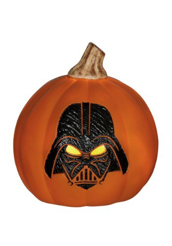 Star Wars Darth Vader Light-Up Orange Pumpkin
