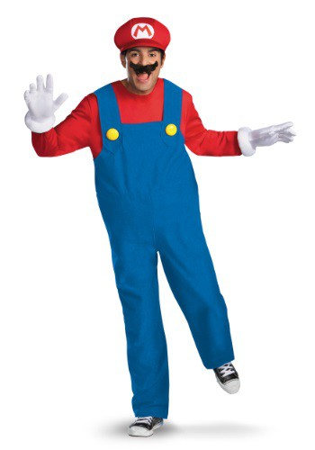 Click Here to buy Mens Deluxe Mario Costume from HalloweenCostumes, CDN Funds & Shipping