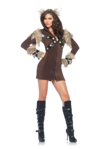 Click Here to buy Womens Cozy Viking Costume from HalloweenCostumes, CDN Funds & Shipping