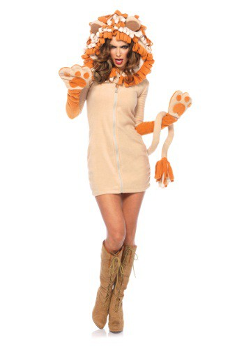 Click Here to buy Womens Cozy Lion Costume from HalloweenCostumes, CDN Funds & Shipping