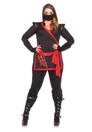 Click Here to buy Plus Size Ninja Assassin Costume from HalloweenCostumes, CDN Funds & Shipping