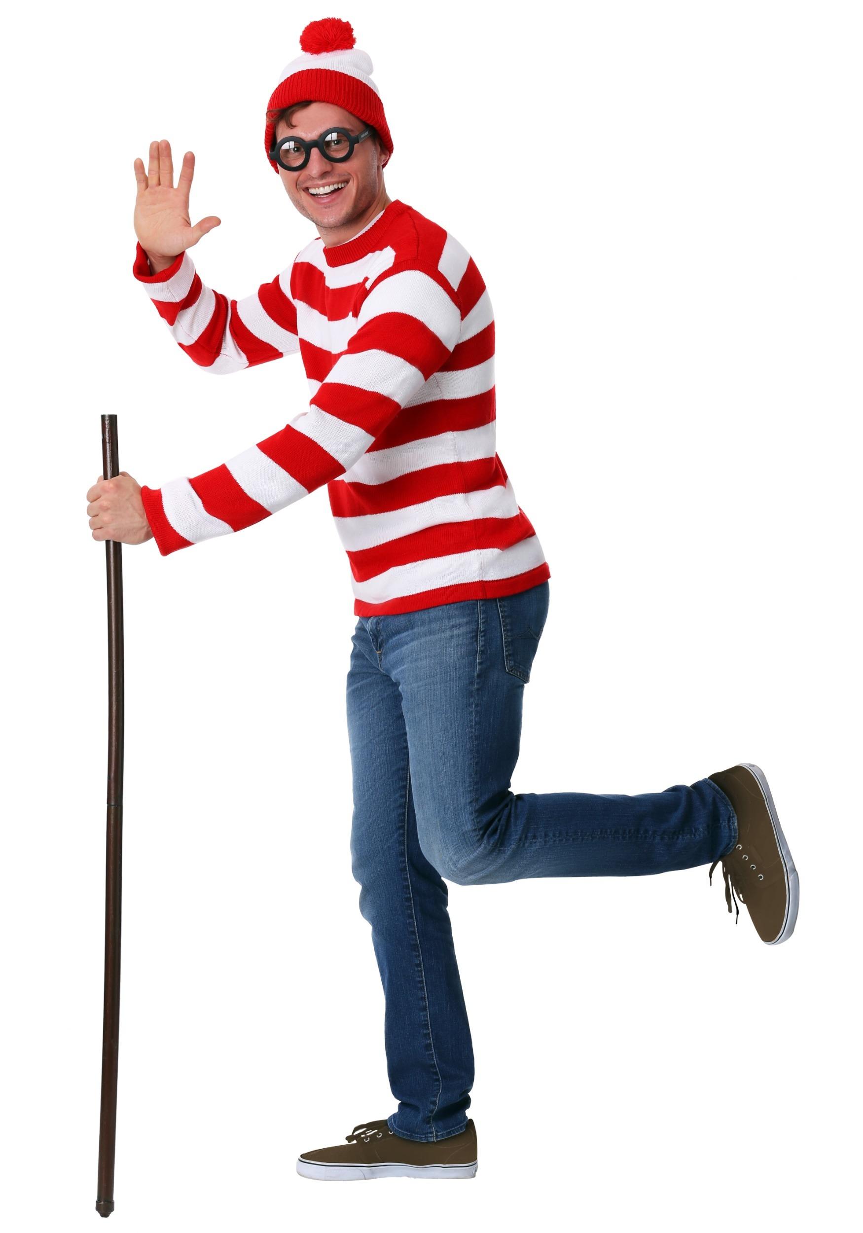 Wheres waldo costume adult medium