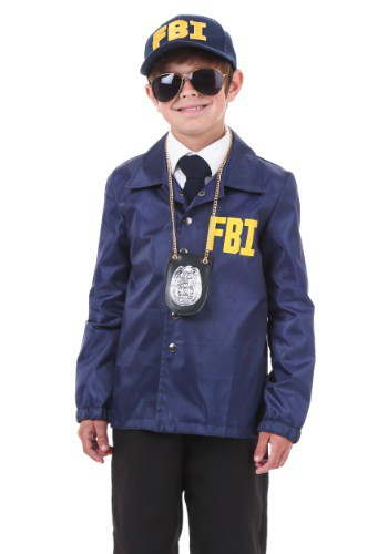 Click Here to buy Kids FBI Costume from HalloweenCostumes, CDN Funds & Shipping