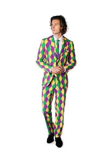 Click Here to buy Mens OppoSuits Mardi Gras Costume Suit from HalloweenCostumes, CDN Funds & Shipping