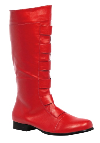 Click Here to buy Adult Red Superhero Boots from HalloweenCostumes, CDN Funds & Shipping