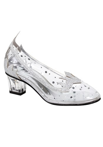 Girl's Silver Glitter Shoes