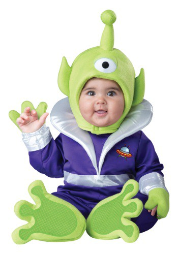 Click Here to buy Baby/Toddler Mini Martian Costume from HalloweenCostumes, CDN Funds & Shipping