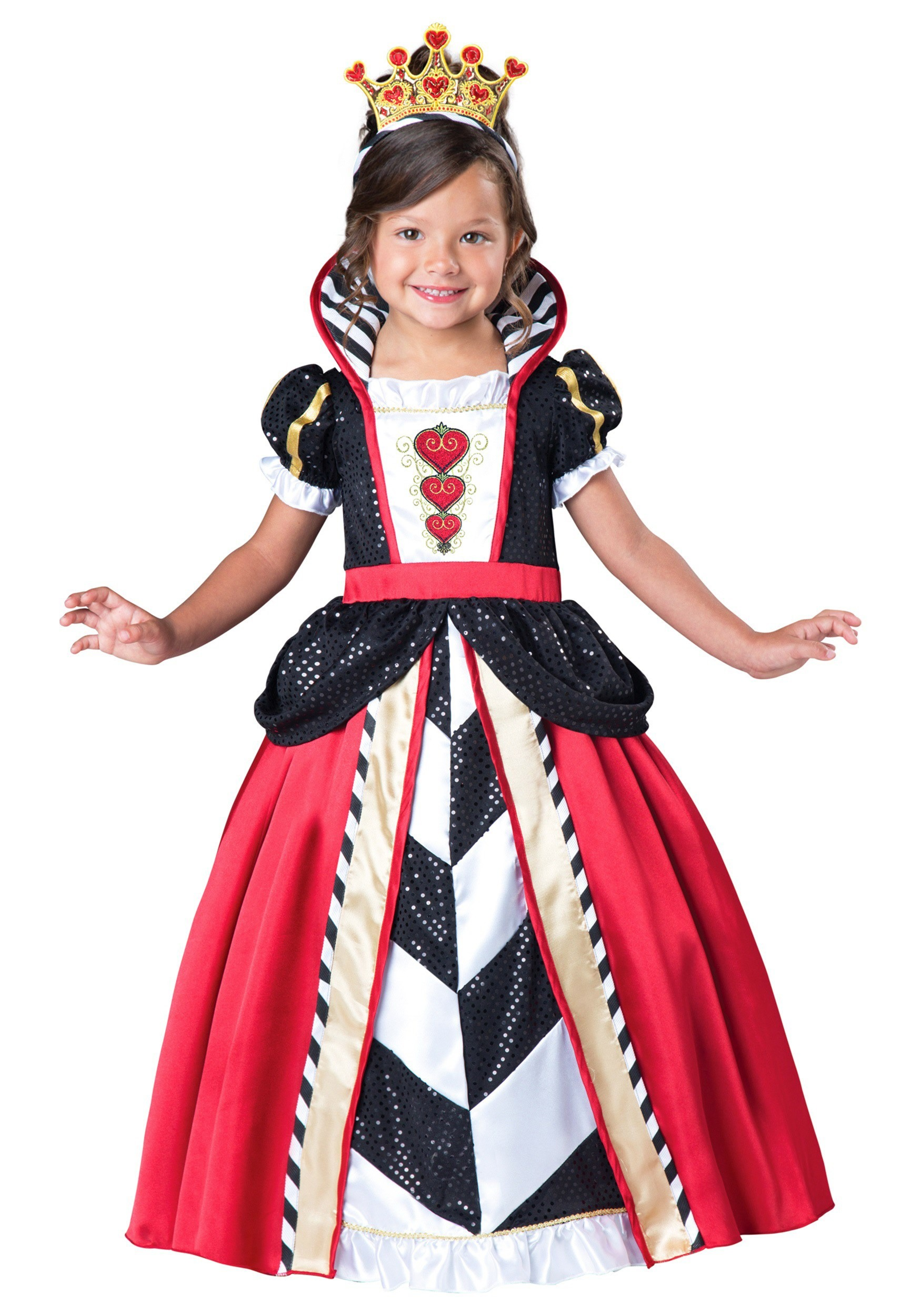 34a9c72bb5d Toddler Girls Queen of Hearts Costume