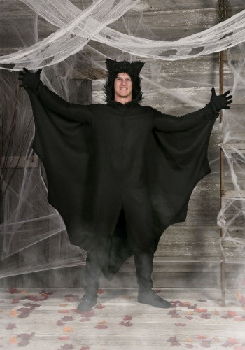 Click Here to buy Plus Fleece Bat Costume from HalloweenCostumes, CDN Funds & Shipping