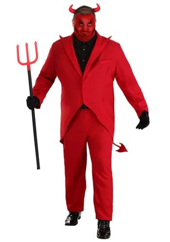 Click Here to buy Plus Size Red Suit Devil Costume from HalloweenCostumes, CDN Funds & Shipping