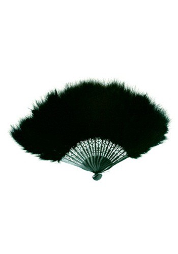 Black Marabou Feather Fan