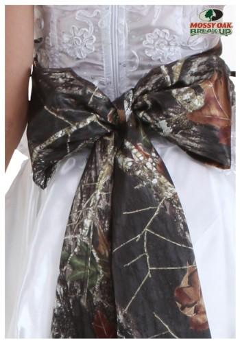 Mossy Oak Giant Bow Bridal Sash
