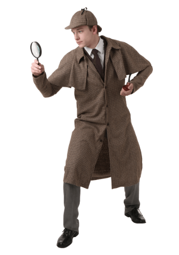 Click Here to buy Adult Sherlock Holmes Costume from HalloweenCostumes, CDN Funds & Shipping