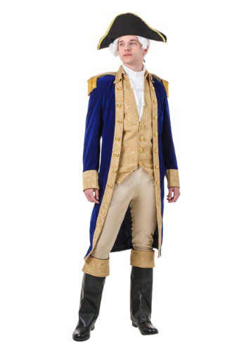 Click Here to buy George Washington Costume for Adults | Historical Costume from HalloweenCostumes, CDN Funds & Shipping