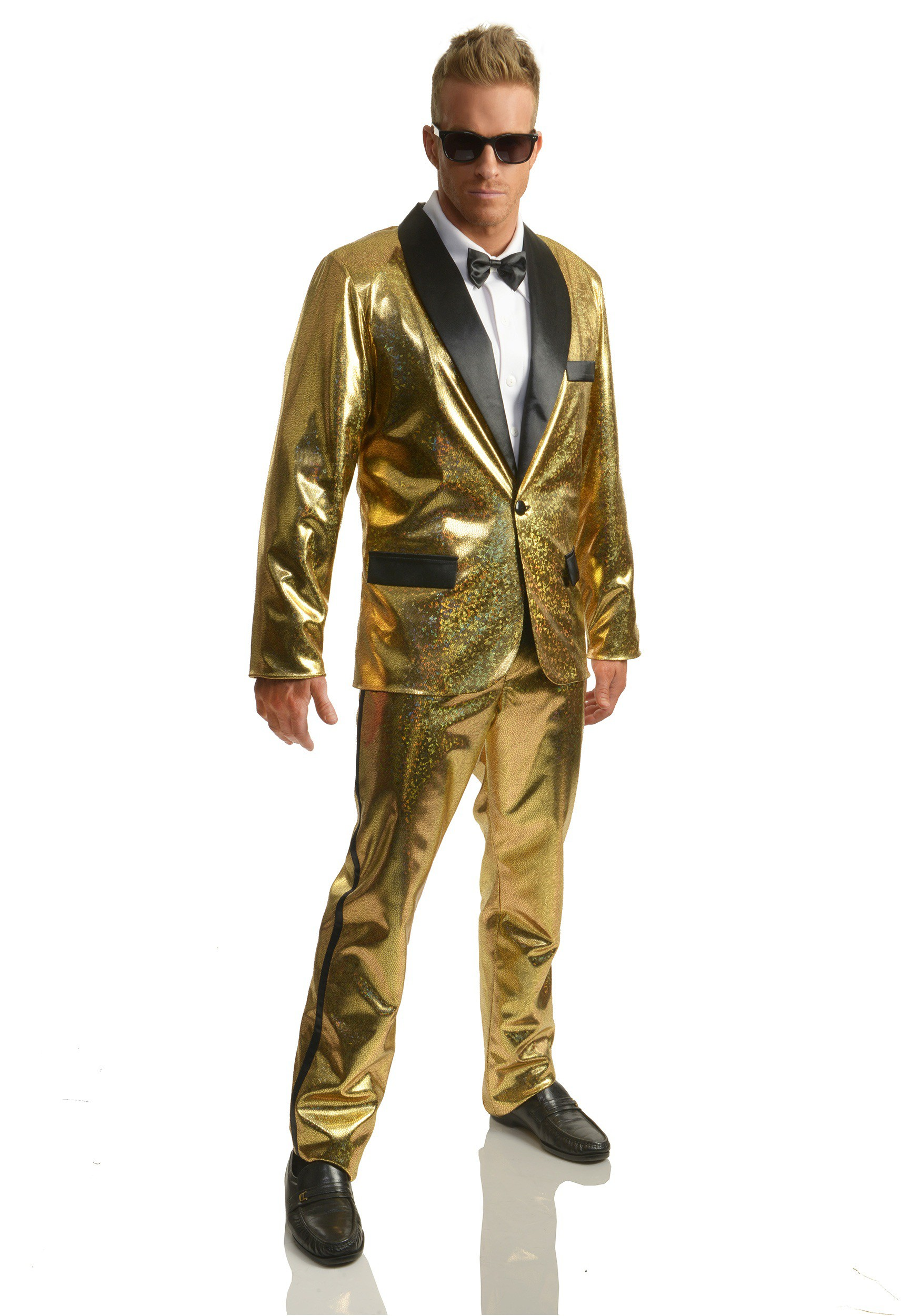 Men S Gold Disco Ball Tuxedo Costume