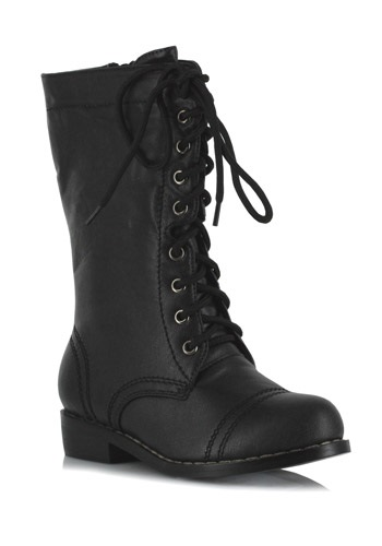 Click Here to buy Kids Black Military Boots from HalloweenCostumes, CDN Funds & Shipping