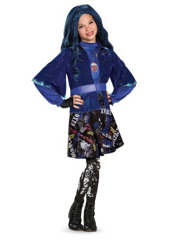 Girls Deluxe Evie Descendants Costume
