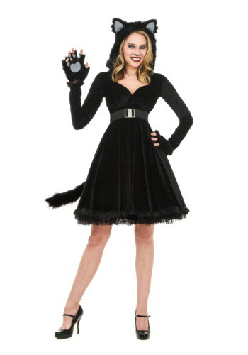 Womens Black Cat Costume