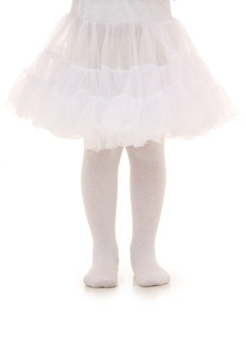 Toddler White Knee Length Crinoline