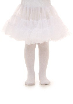 Toddler White Knee Length Crinoline