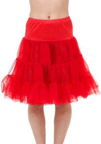 Plus Red Knee Length Crinoline