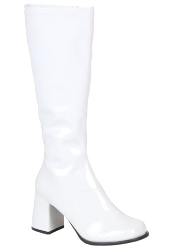 Girls White Gogo Boots