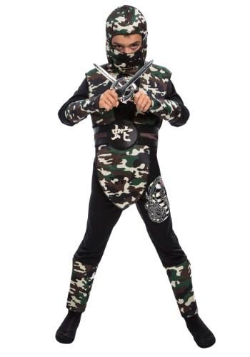 Boy's Camo Ninja Costume