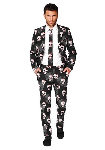 Mens OppoSuits Skulleton Suit Costume