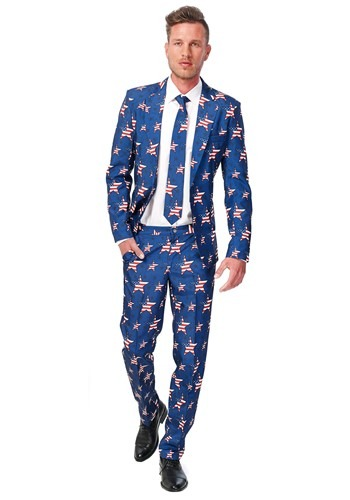 Mens SuitMeister Basic Stars and Stripes Suit Costume