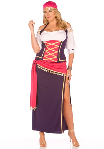 Click Here to buy Maiden Plus Size Fortune Teller Costume. from HalloweenCostumes, CDN Funds & Shipping