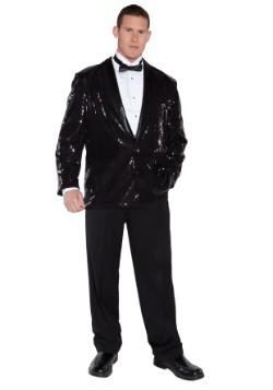 Plus Size Black Sequin Jacket