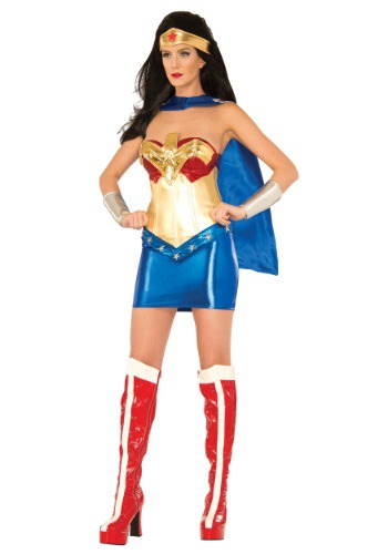 Women's Deluxe Wonder Woman Corset Costume