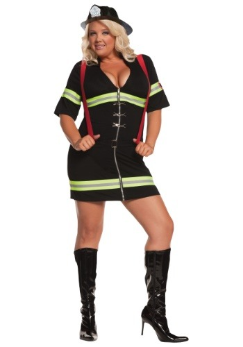 Plus Size Sexy Firegirl Costume | Occupation Costume