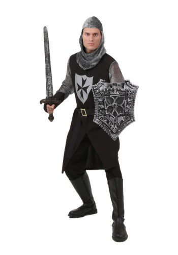 Plus Size Black Knight Costume | Warrior Costumes