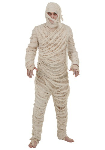Plus Size Mens Mummy Costume  Jumpsuit