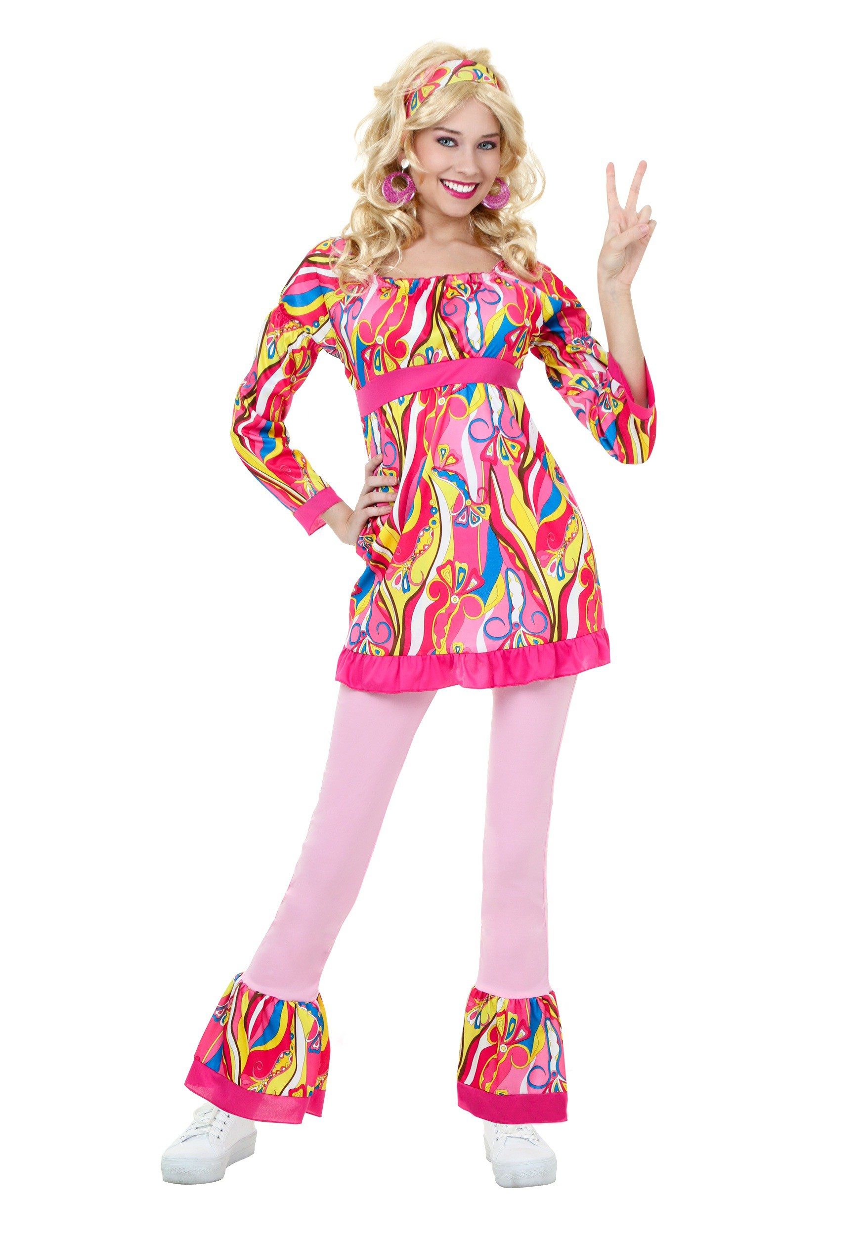 3754e6e4672 Adult Disco Top and Bell Bottoms Costume