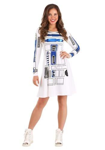 Womens Star Wars I am R2D2 Skater Dress Costume