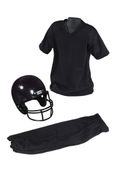 Child Deluxe Football Black Uniform Set
