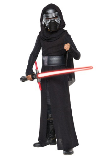 Click Here to buy Kids Deluxe Star Wars Ep. 7 Kylo Ren Villain Costume from HalloweenCostumes, CDN Funds & Shipping